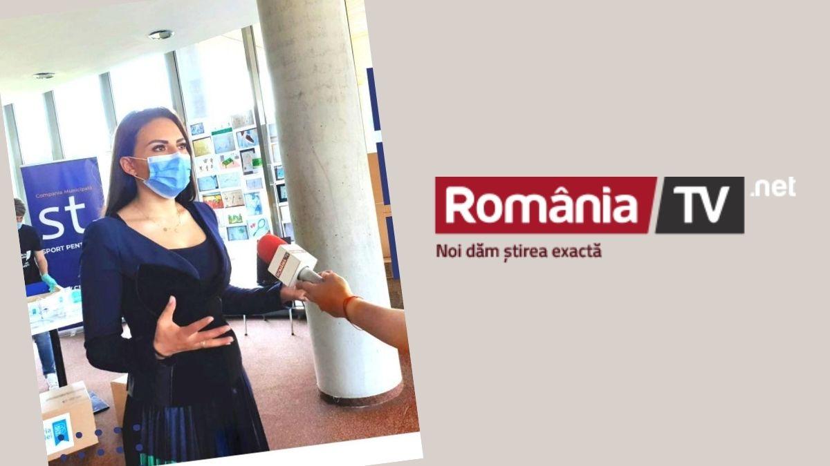 Echipa CSMB împarte măști vârstnicilor – Alexandra Dobre la știrile România TV